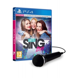 LET'S SING 2018 + 1 MICROFONO nuovo Playstation 4 PS4