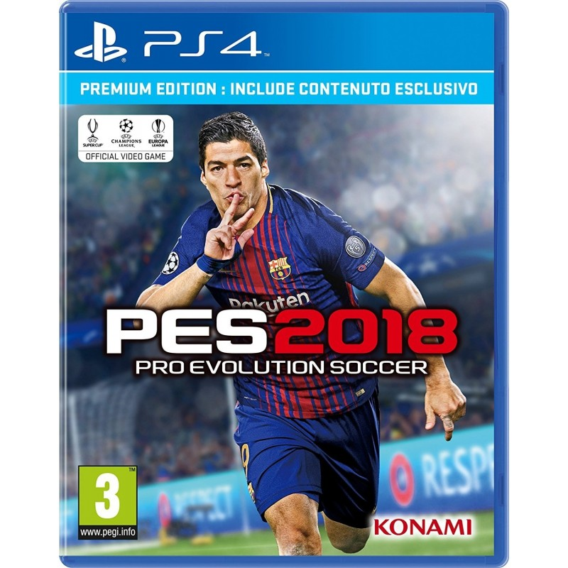 Preordine 14 settembre PES 2018 PRO EVOLUTION SOCCER PREMIUM Playstation 4 PS4