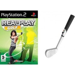 REAL PLAY GOLF + Mazza da Golf per Playstation 2 PS2 nuovo