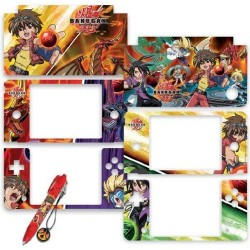 KIT PEN + SKINS COVER Bakugan per Nintendo Dsi XL DSIXL