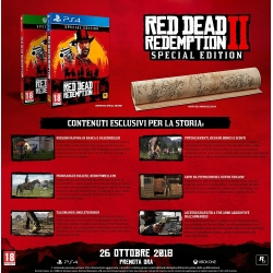 Preordine 26 ottobre 2018 - RED DEAD REDEMPTION 2 SPECIAL LIMITED Playstation 4 PS4